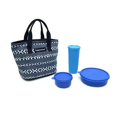 BRAND NEW TUPPERWARE TRUE BLUE LUNCH SET 3 Pc with FREE BAG