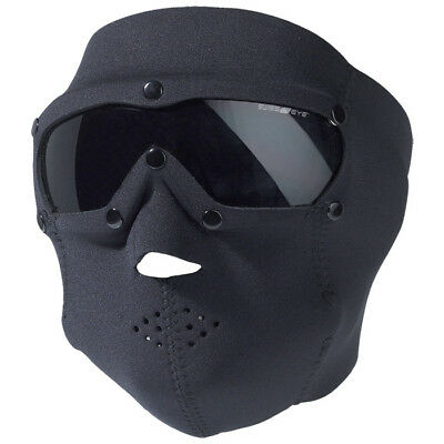 Swiss Eye Swat Full Face Mask + Ballistic Goggles Airsoft Bikers Cycling Black