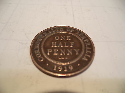 1919 KGV Half Penny Fine/Very Fine  RARE VERY OLD COLLECTION GREAT INVESTMENT
