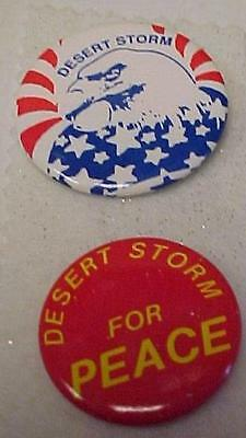 Support Our Troops Badge & Desert Storm for Peace Badge-NICE    -13206C