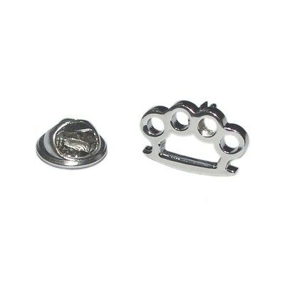 Silver Knuckle Duster Lapel Pin Badge Fighting Boxer Boxing Present For Him New