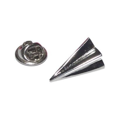 Silver Folded Paper Plane Lapel Pin Badge Aeroplane Pilor Aircraft Origami New