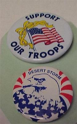 Support Our Troops Badge & Desert Storm Badge-NICE    -13205C