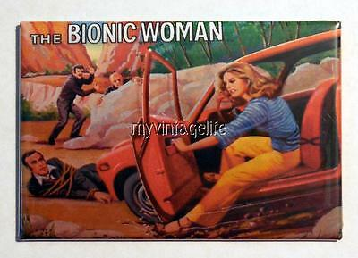 "Vintage TV Show The BIONIC WOMAN Lunchbox 2"" x 3"" Fridge MAGNET"