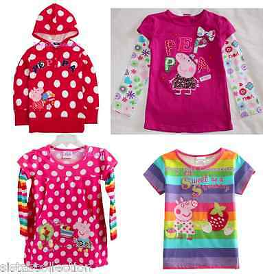 AUS Seller NEW with tags girls peppa bulk lot sweater tshirt top tunic size 1