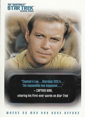 Star Trek TOS Quotable Trading Card Set (110 Cards)