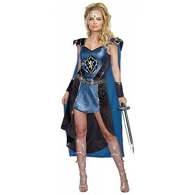Medieval Knight Costume Adult Female Warrior Princess Halloween Fancy Dress