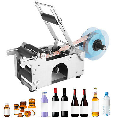 LABELER MACHINE MT-50 SEMI-AUTOMATIC ROUND BOTTLE LABELING MACHINE USA Stock