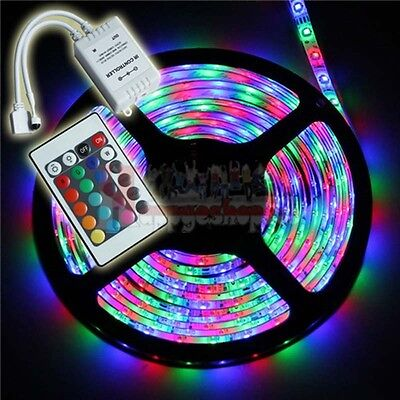 10M 3528 RGB 300 LEDs Waterproof Flexible Strip Lighting Decorate House+Remote