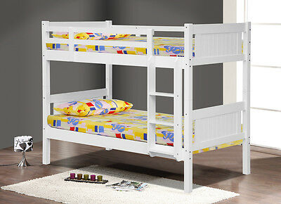 Kids White Wooden Bunk Beds for Childrens Bedroom Top Quality Solid Wood