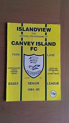 Canvey Island V Witham Town 1984-85