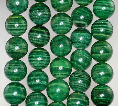 25MM  MALACHITE LACE JASPER GEMSTONE GRADE AA  FLAT ROUND CIRCLE LOOSE BEADS 8/""