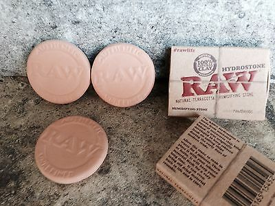 3 Raw Rolling Paper Hydrostone 100% Natural Terracotta Clay Humidifying Stone