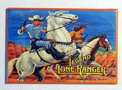 "Vintage THE LEGEND of the LONE RANGER  Lunchbox 2"" x 3"" Fridge MAGNET"