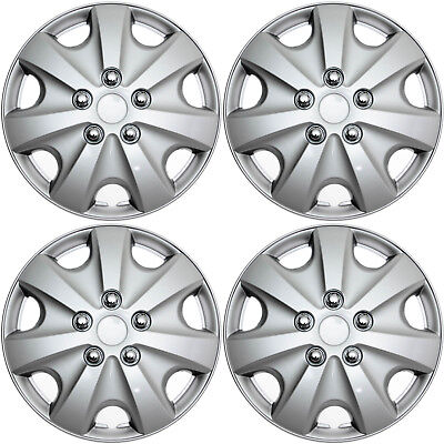 "4 pc SET Hub Caps ABS Silver 15"" Inch Wheel Cover for OEM Rims Cap Covers"
