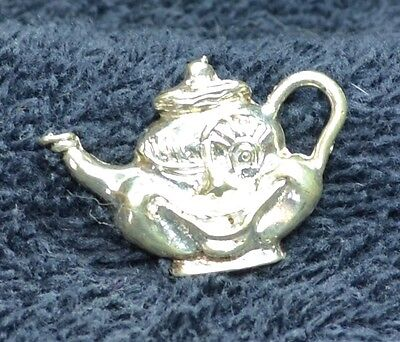 Sterling Silver Scrap/Not ~2 grams Grinning Smiling Winking Teapot Charm