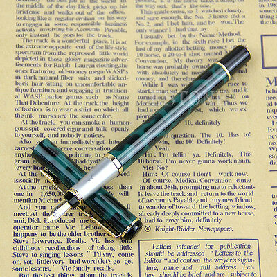 Stainless Steel Metal Medium Nib Fountain Pen Student Office Writing Baoer 801