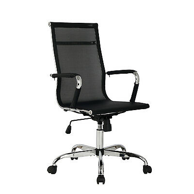 Office Chair High Back Mesh Swivel Executive Computer Desk Task Seat Black New