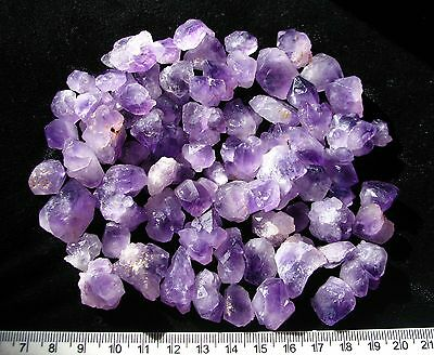 250ct NATURAL FORMED PURPLE AMETHYST rough QUARTZ CRYSTAL LOTS