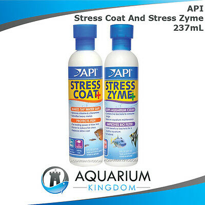 API Stress Coat 237mL & Stress Zyme 237mL Combo - Water Conditioner & BioStarter