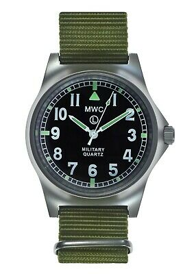 MWC G10LM Military Watch | 50m | No Date | Screw Case Back | Olive Strap