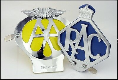 AA & RAC Metal Car Grille Badges With FREE Fixing Tools UK Seller