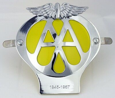 NEW AA Metal Car Grille Badge Including FREE Fixing Tools UK Seller