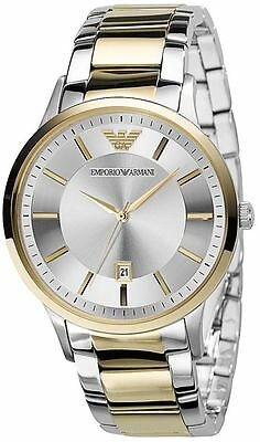 New Emporio Armani Ar2449 Mens Two Tone Watch - 2 Years Warranty - Certificate