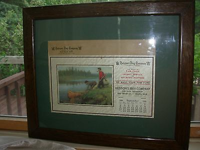 Philip Goodwin 1928 Hudson's Bay Trapping Calendar Vintage