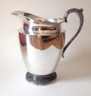 Beautiful Antique Silver Plated Primrose Rogers & Son Pitcher Circa 1817