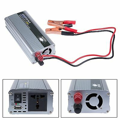 1500W Watt DC 12V to AC 110V Portable Car Power Inverter Charger Converter