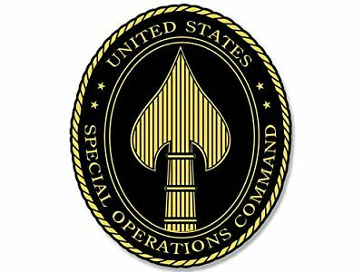 3x4 inch OVAL US Special Operations Command Spear Sticker - decal socom ops army