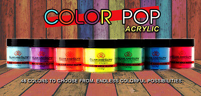 COLOR POP ACRYLIC Powder - Glam and Glits 1oz Jar - Choose your colors
