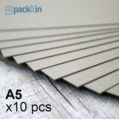 A5 Backing Boards - 10 sheets 700gsm - chipboard boxboard cardboard recycled