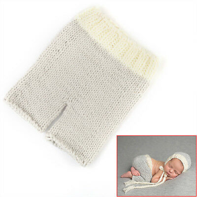 Newborn Baby Hat Pants Girl Boy Crochet Knit Costume Photo Prop Outfit 0-3 Month