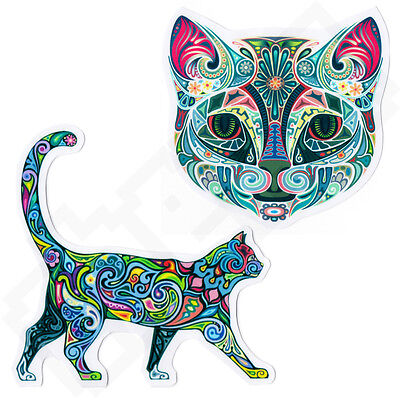 MAGIC PSYCHEDELIC CAT Sticker for Skateboard Scooter Phone Laptop Guitar Case