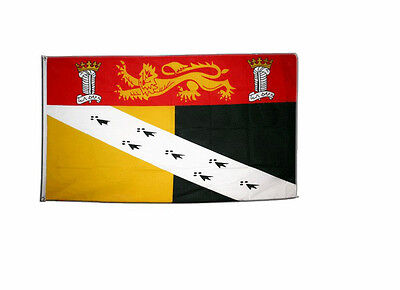 Norfolk Crest Large Flag 5 x 3 FT - 100% Polyester With Eyelets English County