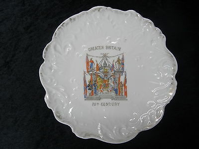 Commemorative China Plate (21 cm) - C1900 Greater Britain in the 20th Century