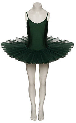 Ladies Girls Forest Green Ballet Dance Costume Tutu Outfit All Sizes By Katz