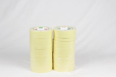 "Automotive Masking Tape Light Yellow 3/4""- 60y 1/2 Box 24Rols for Auto Body Shop"