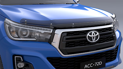 Toyota Hilux Bonnet Protector Tinted From July 2015> New Genuine Accessory