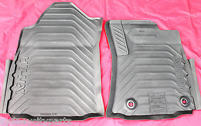 Toyota Hilux Rubber Floor Mats Front Pair Manual From July 2015> New Genuine