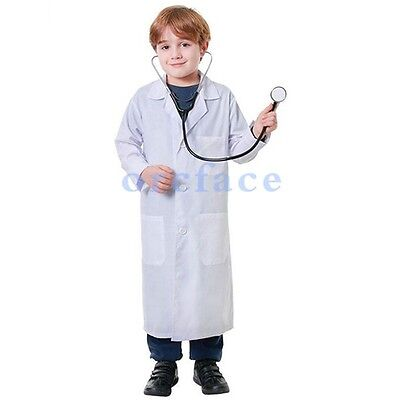 Children Doctor Lab Coat Top Quality Cotton Laboratory Scientists School Costume