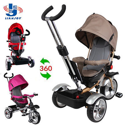 New Design Trike Bike Tricycle Ride On Toy Baby Toddler Pram Stroller Jogger Car