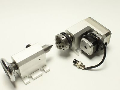 3040 F Style 3-Jaw Claw Engraving Router Rotational Axis,4th A axis +Tailstock