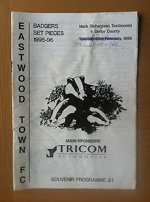 Eastwood Town V Derby County 1995-96