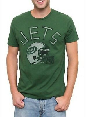 NFL Football Sports New York Jets Kick Off Crew Hunter Green Mens T-Shirt