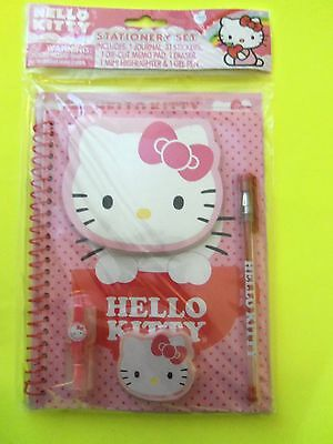Hello Kitty 5pc +31 stickers Pink School Stationery Set