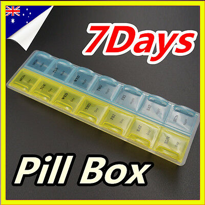 7 Days Pill Box Boxes Medicine Tablet Box Case Container Storage Holder Weekly