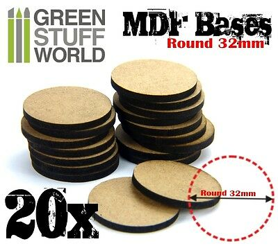 20x MDF Bases - Round 32mm - Thickness 3mm Basing Laser Cut Wargames Miniatures